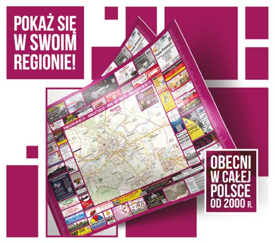 mapy ścienne drukowane lokalne przewodniki branzowe geoplan